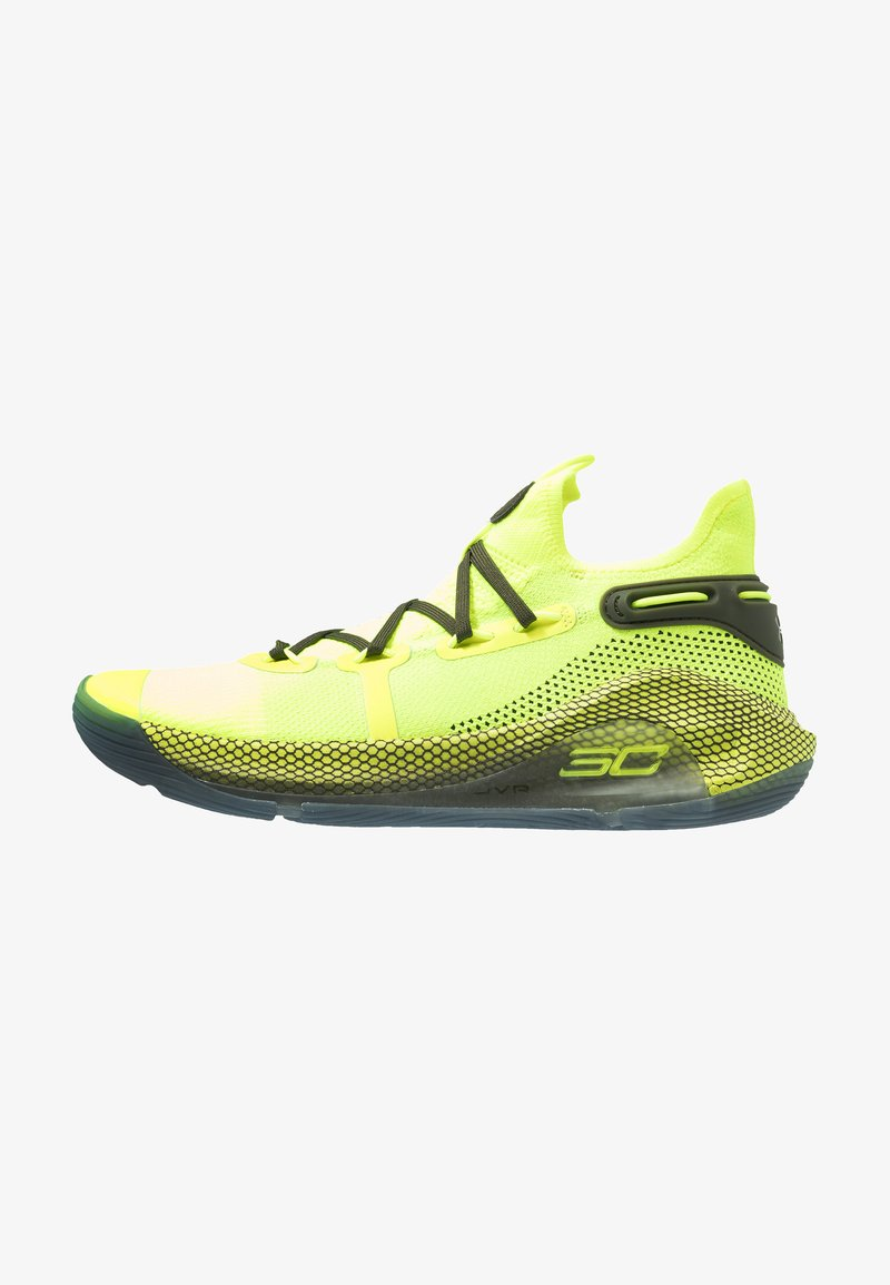 Under Armour - CURRY 6 - Basketball shoes - high-vis yellow/guardian green