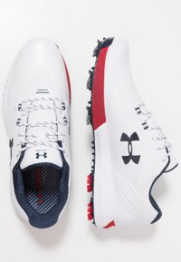 Under Armour - HOVR DRIVE E - Golfschuh - white/red/academy - 1