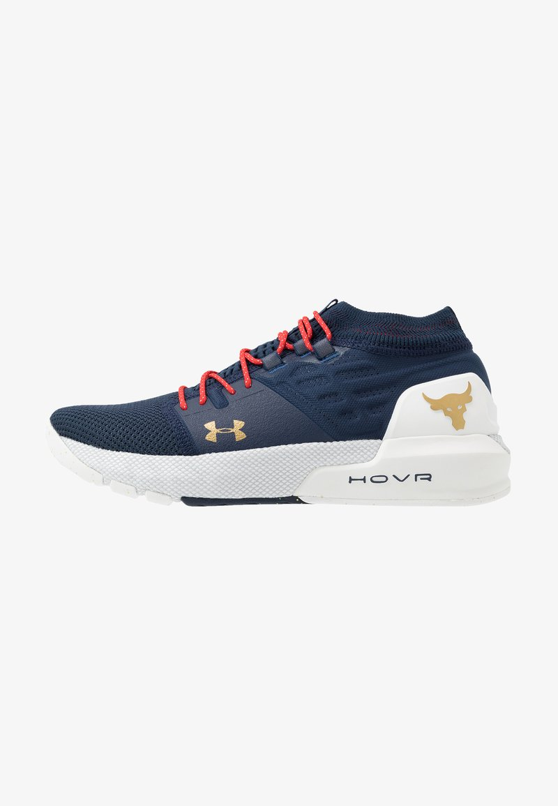 Under Armour - PROJECT ROCK 2 - Sports shoes - academy/white/metallic gold