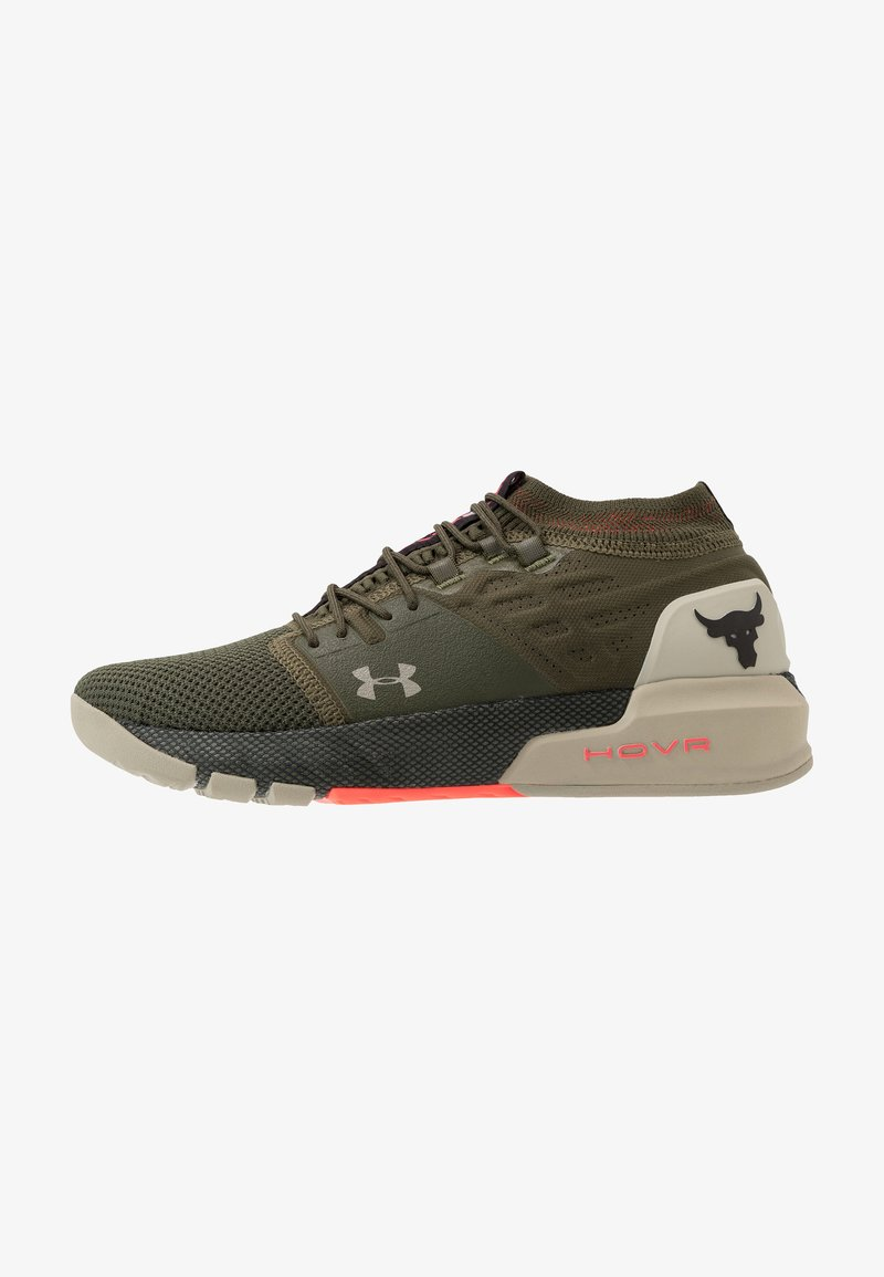 Under Armour - PROJECT ROCK 2 - Kuntoilukengät - guardian green/sandy brown/black