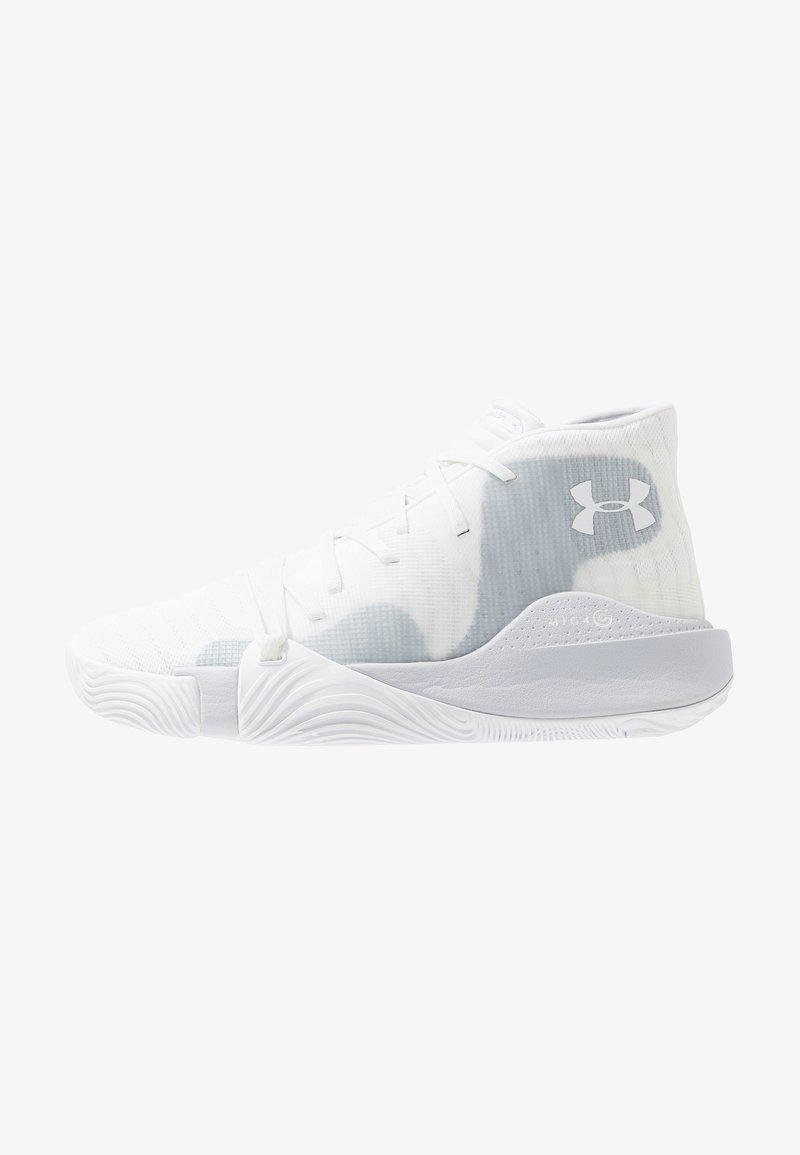 Under Armour - SPAWN MID - Obuwie do koszykówki - white/mod gray