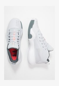 Under Armour - LOCKDOWN 4 - Basketball shoes - halo gray/white/pitch gray - 1