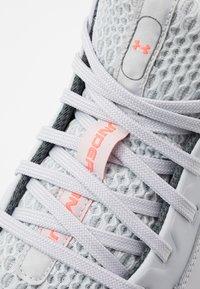 Under Armour - LOCKDOWN 4 - Basketball shoes - halo gray/white/pitch gray - 5
