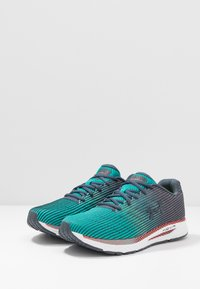 Under Armour - HOVR VELOCITI 2 - Neutral running shoes - wire/teal rush - 2