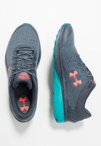 Under Armour - CHARGED ESCAPE 3 - Neutral running shoes - wire/teal rush/beta red - 1