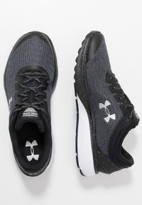 Under Armour - CHARGED ESCAPE 3 - Chaussures de running neutres - black/white/metallic silver - 1