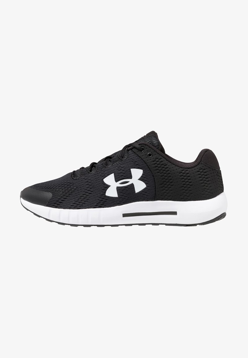 Under Armour - MICRO G PURSUIT - Neutral running shoes - black/white