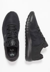 Under Armour - MICRO G PURSUIT - Neutral running shoes - black - 1