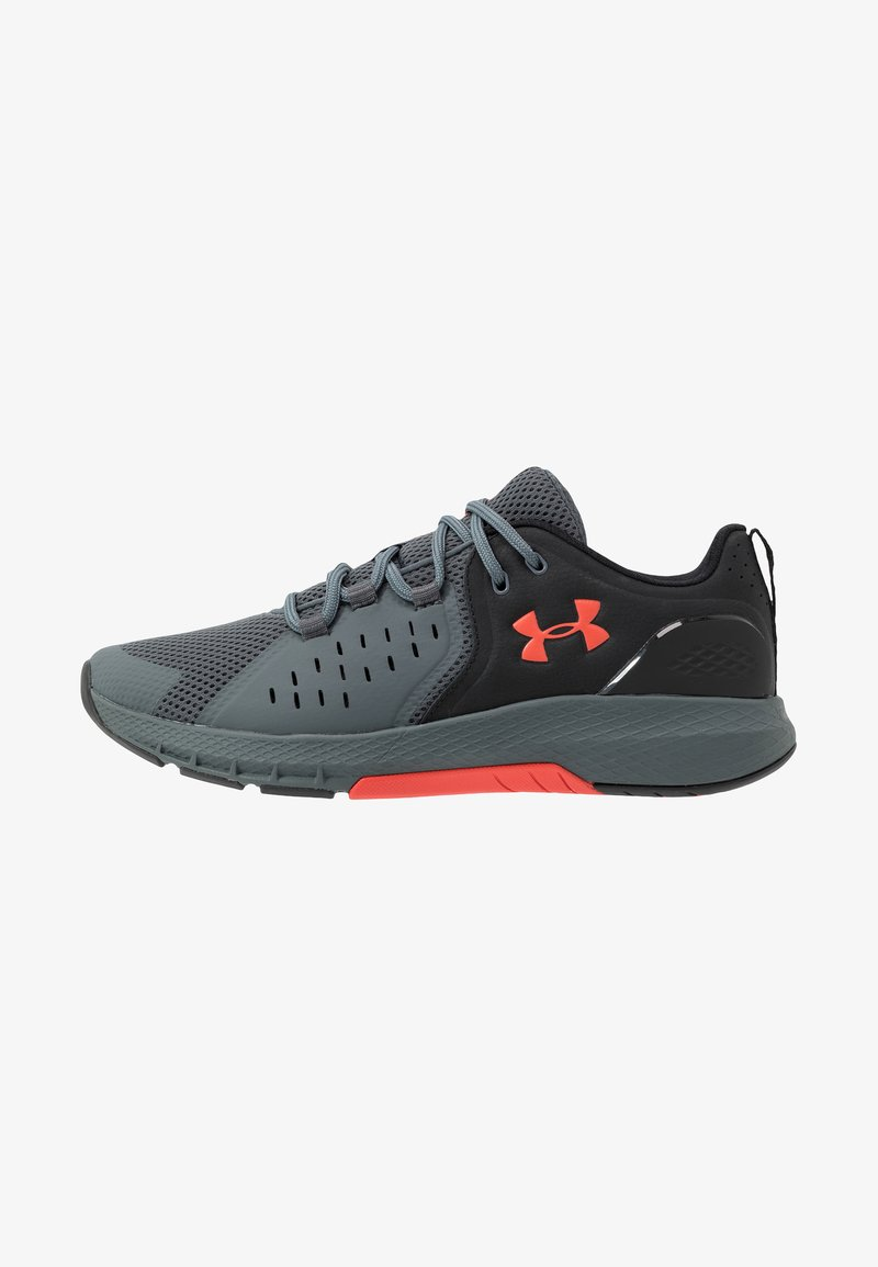 Under Armour - CHARGED COMMIT TR 2.0 - Sports shoes - black/pitch gray/martian red