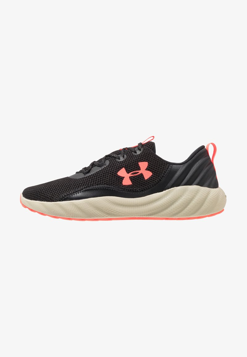 Under Armour - CHARGED WILL - Neutral running shoes - black/range khaki/beta red