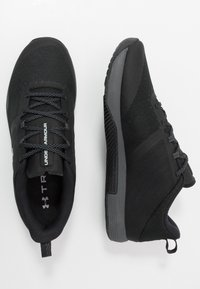 Under Armour - TRIBASE THRIVE - Zapatillas de entrenamiento - black/pitch gray/halo gray - 1