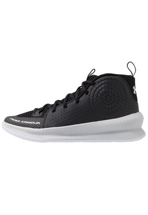 UA JET - Basketball shoes - black / halo gray / halo gray
