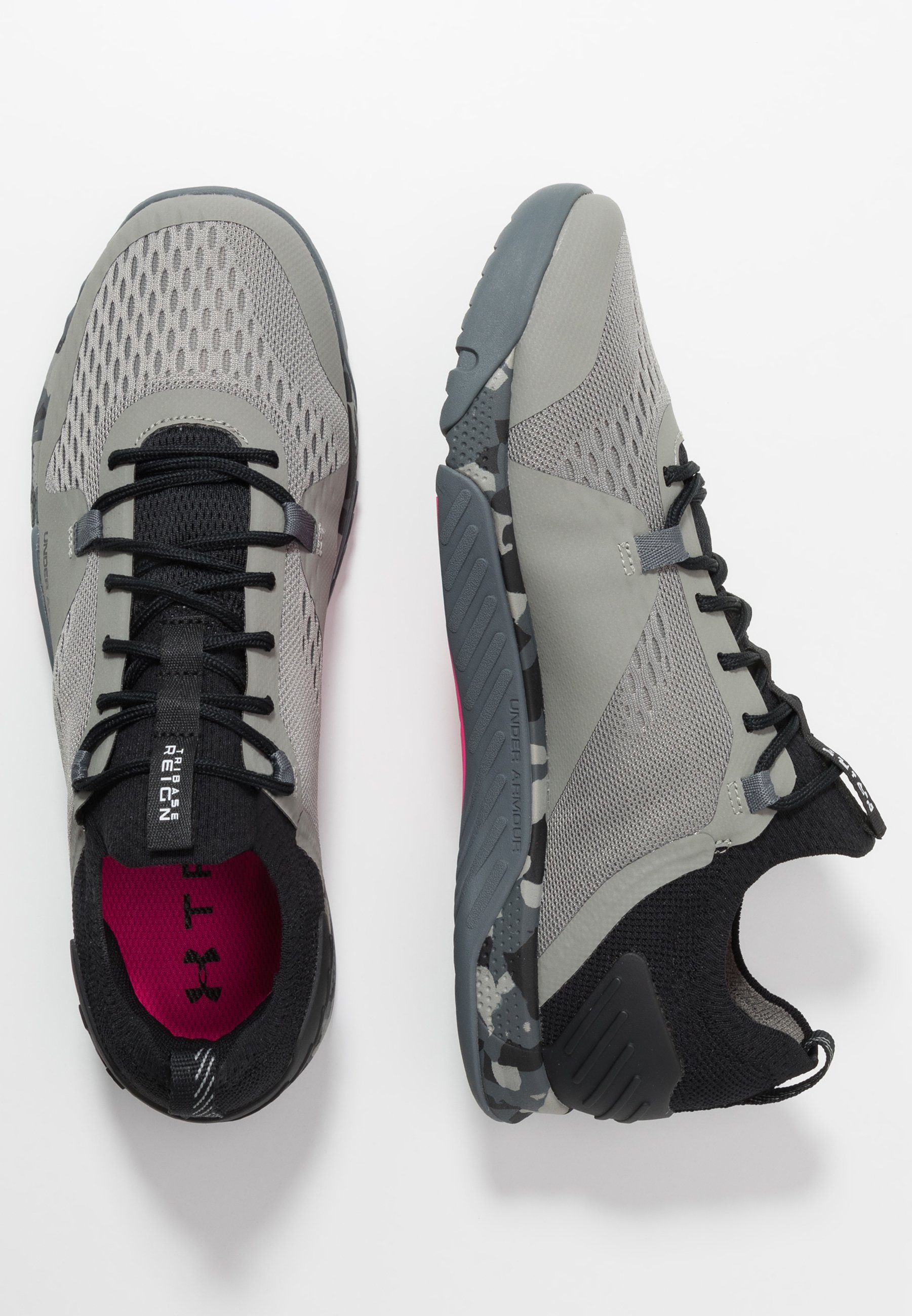 Under Armour TRIBASE REIGN 2 - Zapatillas de entrenamiento - gravity green/black/halo gray