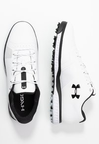 Under Armour - FADE RST 3 E - Golfové boty - white/black - 1