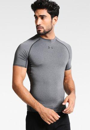 Print T-shirt - dunkelgrau/schwarz