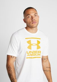 Under Armour - FOUNDATION - Printtipaita - white/golden yellow - 3