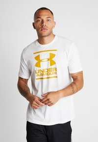 Under Armour - FOUNDATION - Printtipaita - white/golden yellow - 0
