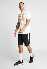Under Armour - FOUNDATION - Print T-shirt - white/golden yellow - 1