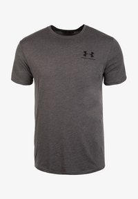 Under Armour - SPORTSTYLE LEFT CHEST - Basic T-shirt - charcoal medium heather - 0