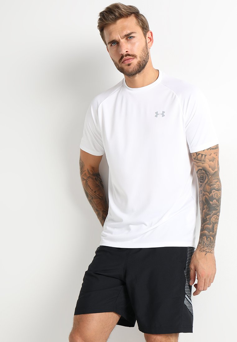Under Armour - TECH TEE - T-shirts print - white/overcast gray