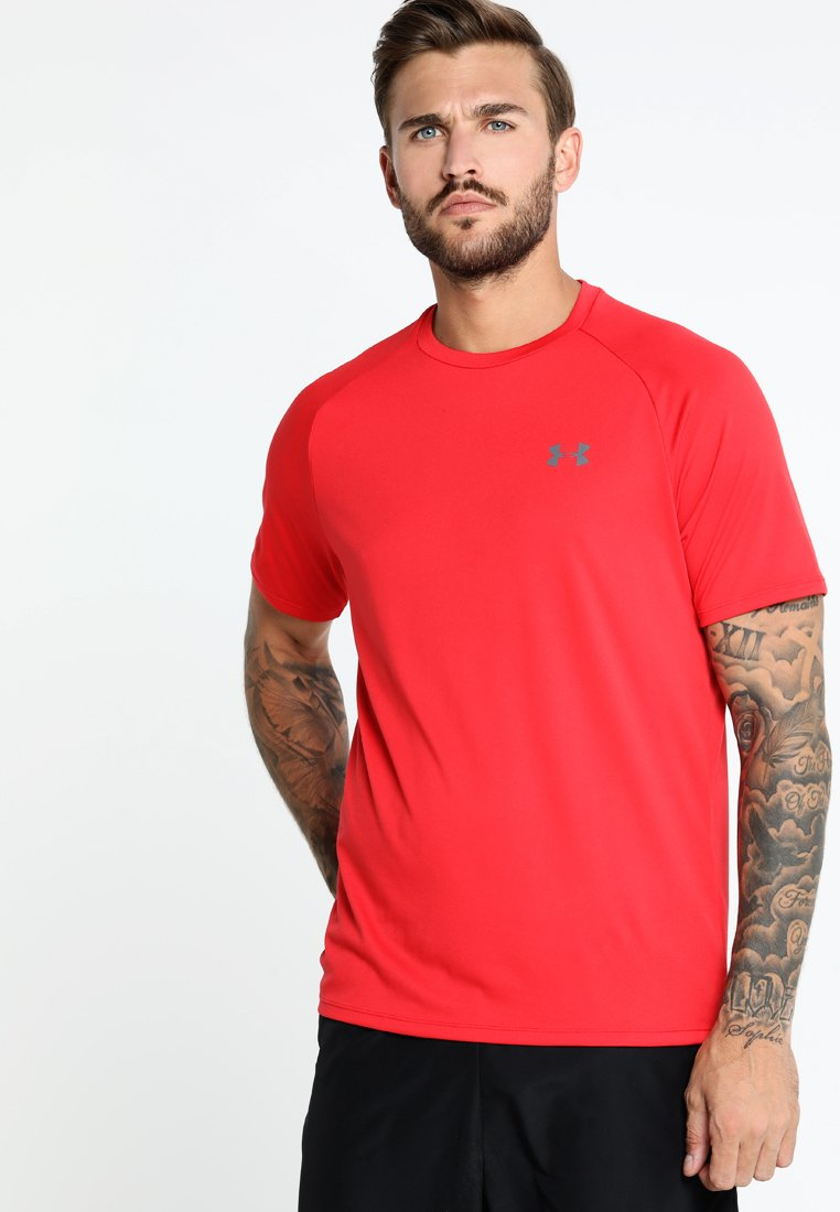 Under Armour - TECH TEE - Print T-shirt - red/graphite