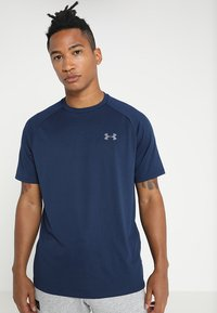 Under Armour - TECH TEE - Camiseta básica - academy/graphite - 0