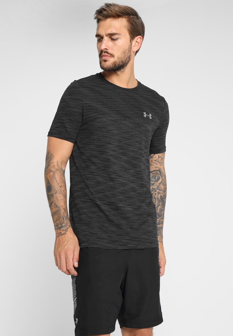 Under Armour - VANISH - Print T-shirt - black/graphite