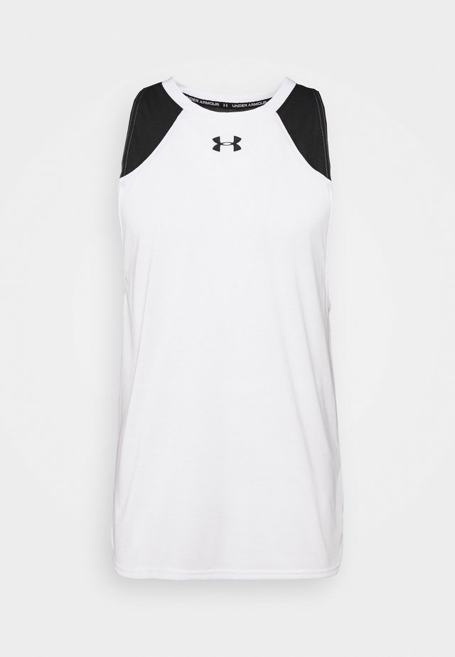 BASELINE PERFORMANCE TANK - T-shirt sportiva - white/black
