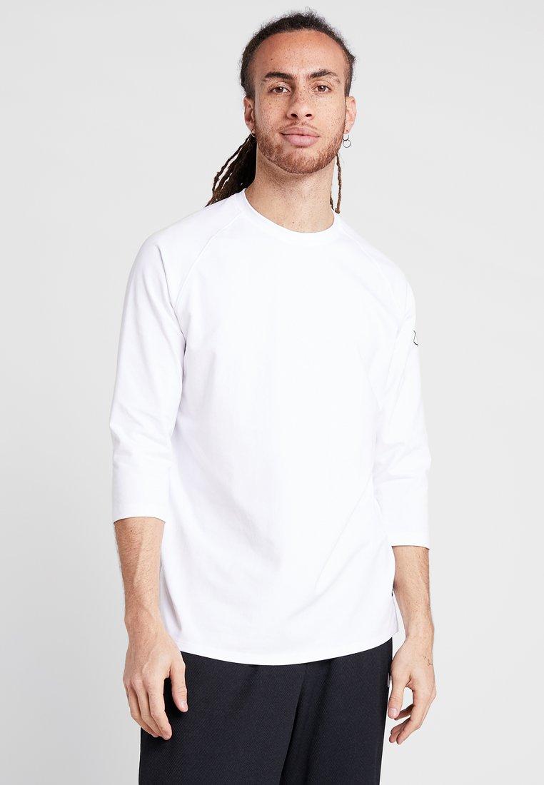 Under Armour - BASELINE HALF SLEEVE - Funktionsshirt - white/mod gray/black