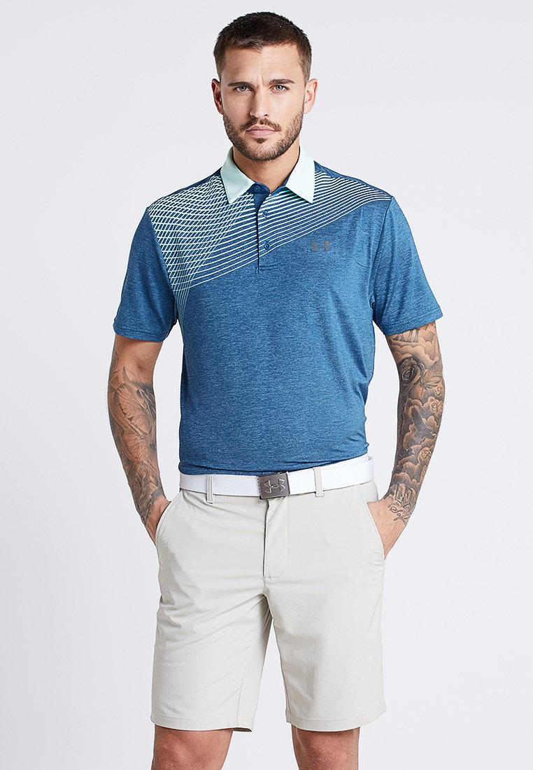 Under Armour - PLAYOFF 2.0 - Funktionsshirt - petrol blue/pitch gray