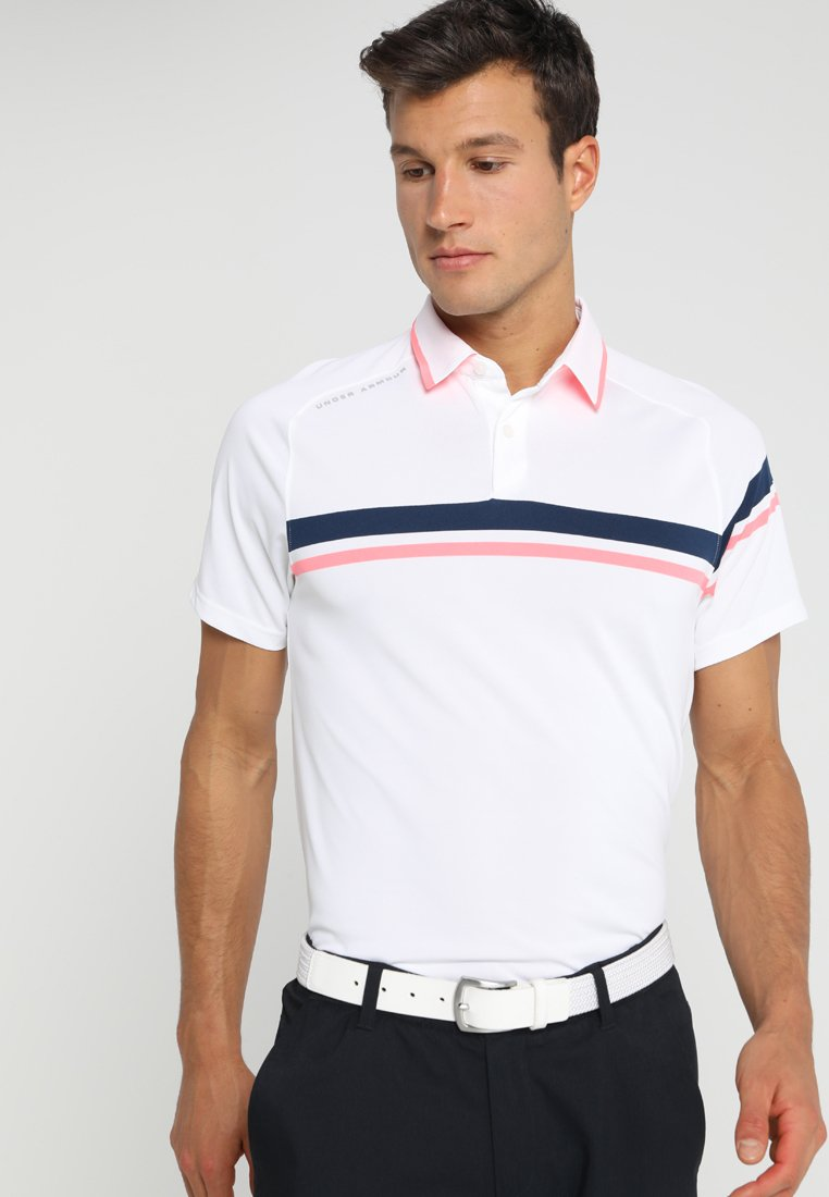 Under Armour - TOUR TIPS DRIVE - Funktionstrøjer - white/mod grey