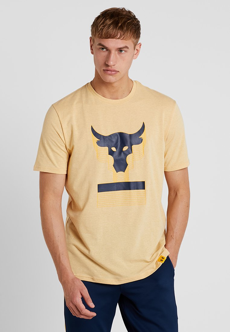 Under Armour - PROJECT ROCK ABOVE THE BAR - T-Shirt print - noble medium heather/academy
