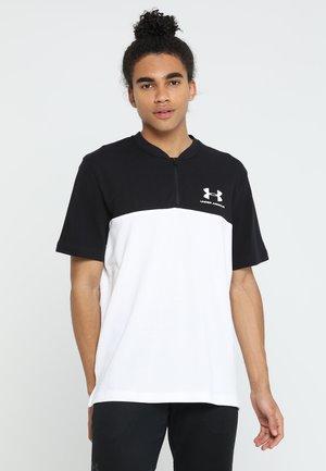 SPORTSTYLE TRACK ZIP - Camiseta de deporte - white/black