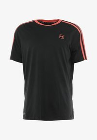 Under Armour - UNSTOPPABLE STRIPED - Print T-shirt - black/coho - 4