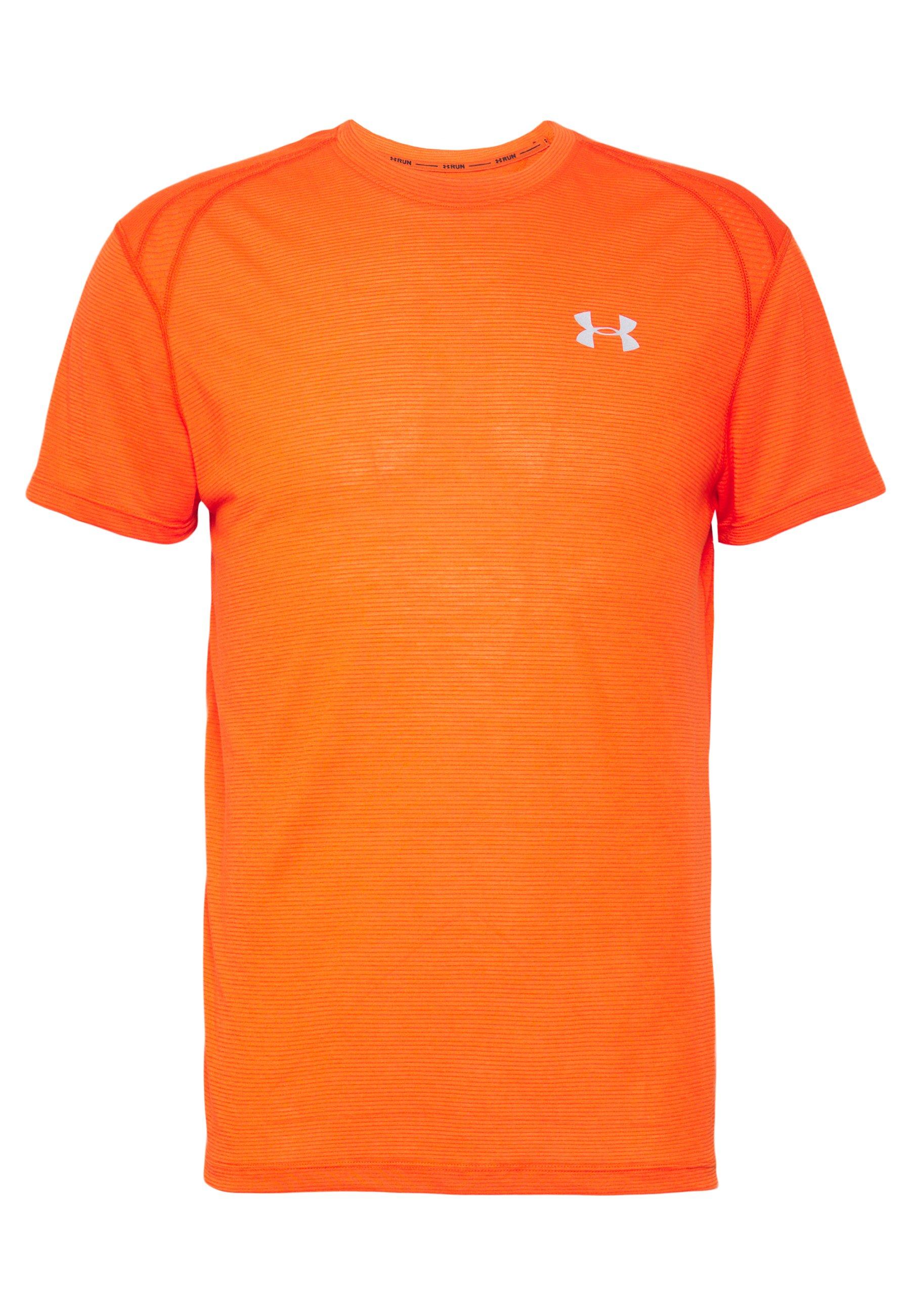 Under Armour UA STREAKER 2.0 SHORTSLEEVE - T-shirt z nadrukiem - ultra orange/reflective