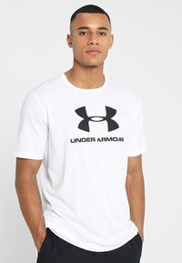 Under Armour - SPORTSTYLE LOGO - T-shirts med print - white/black - 0
