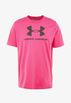 STYLE - Camiseta estampada - exuberant pink/black