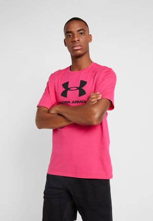 STYLE - Print T-shirt - exuberant pink/black
