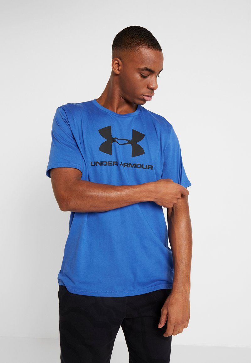 Under Armour - SPORTSTYLE LOGO - T-shirts med print - versa blue/black