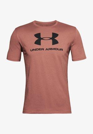 SPORTSTYLE LOGO - Print T-shirt - cedar brown