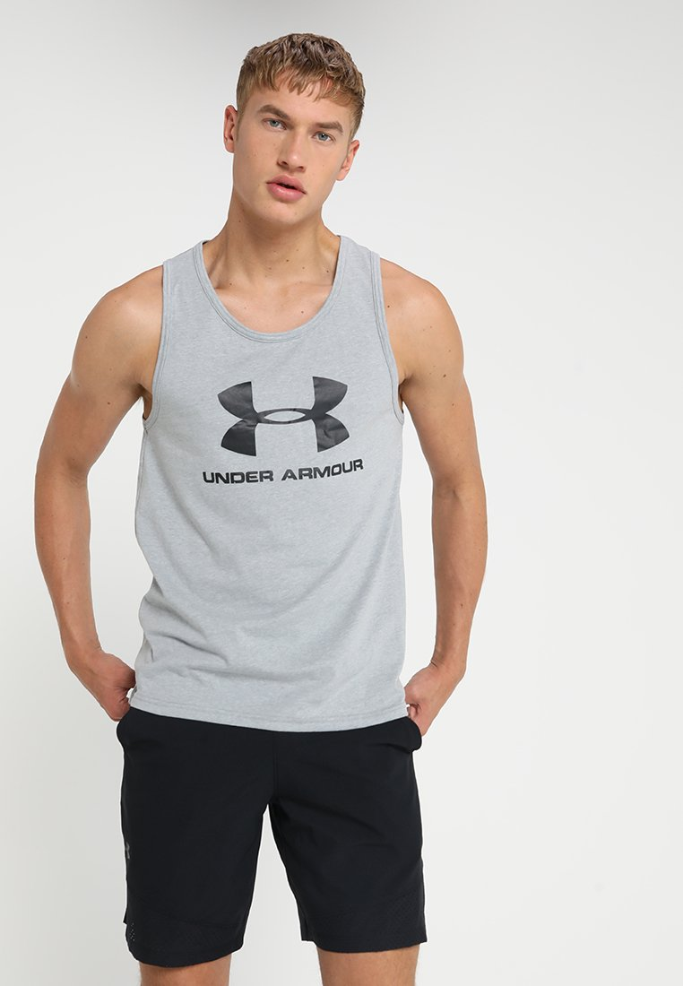 Under Armour - SPORTSTYLE LOGO TANK - Treningsskjorter - grey