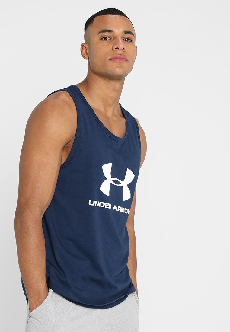 Under Armour - SPORTSTYLE LOGO TANK - T-shirt de sport - academy/white
