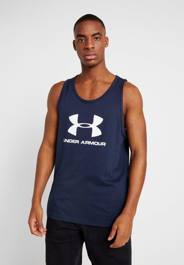 SPORTSTYLE LOGO TANK - T-shirt sportiva - dark blue/white