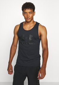 Under Armour - SPORTSTYLE LOGO TANK - Sports shirt - black - 0