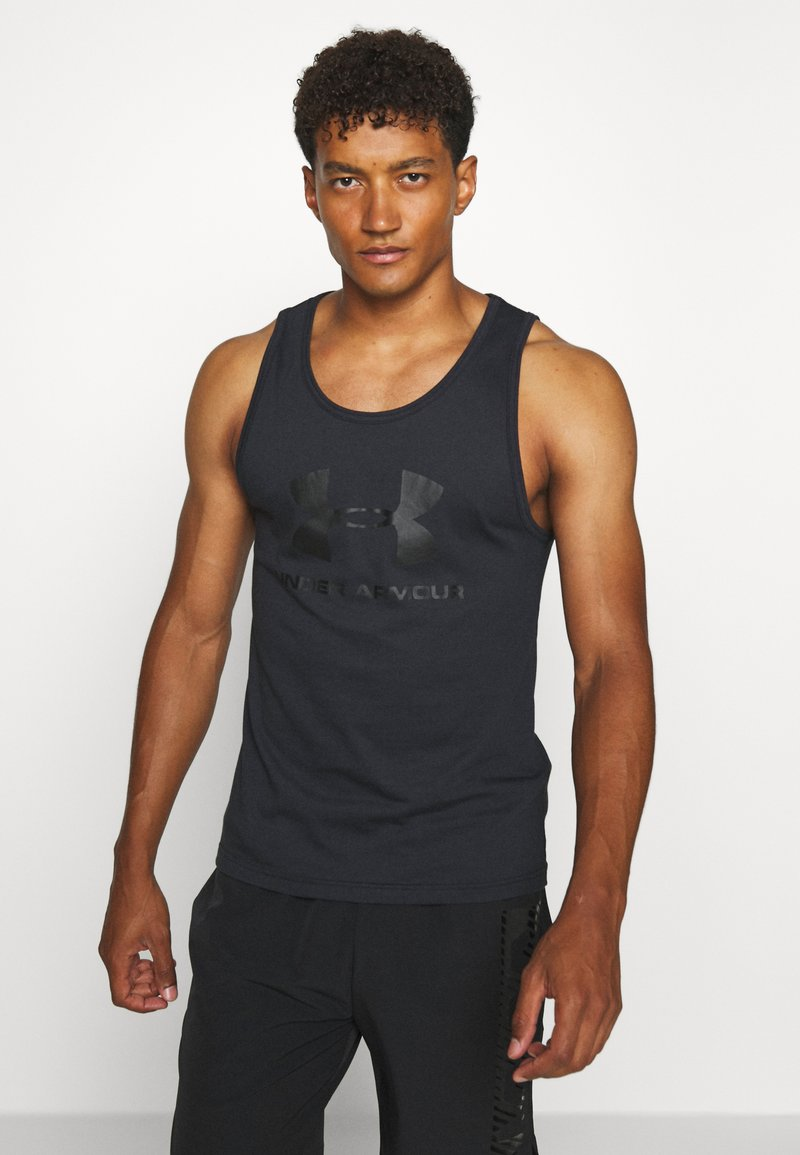 Under Armour - SPORTSTYLE LOGO TANK - Sports shirt - black