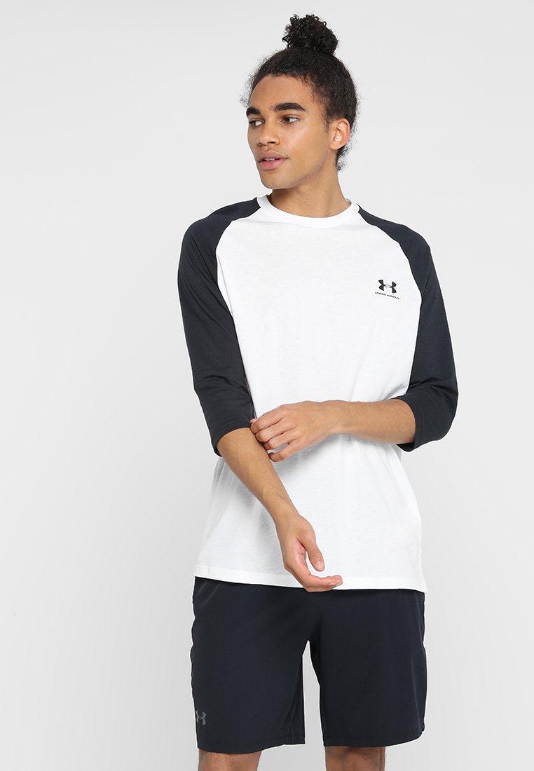 Under Armour - SPORTSTYLE LEFT CHEST - Longsleeve - white/black