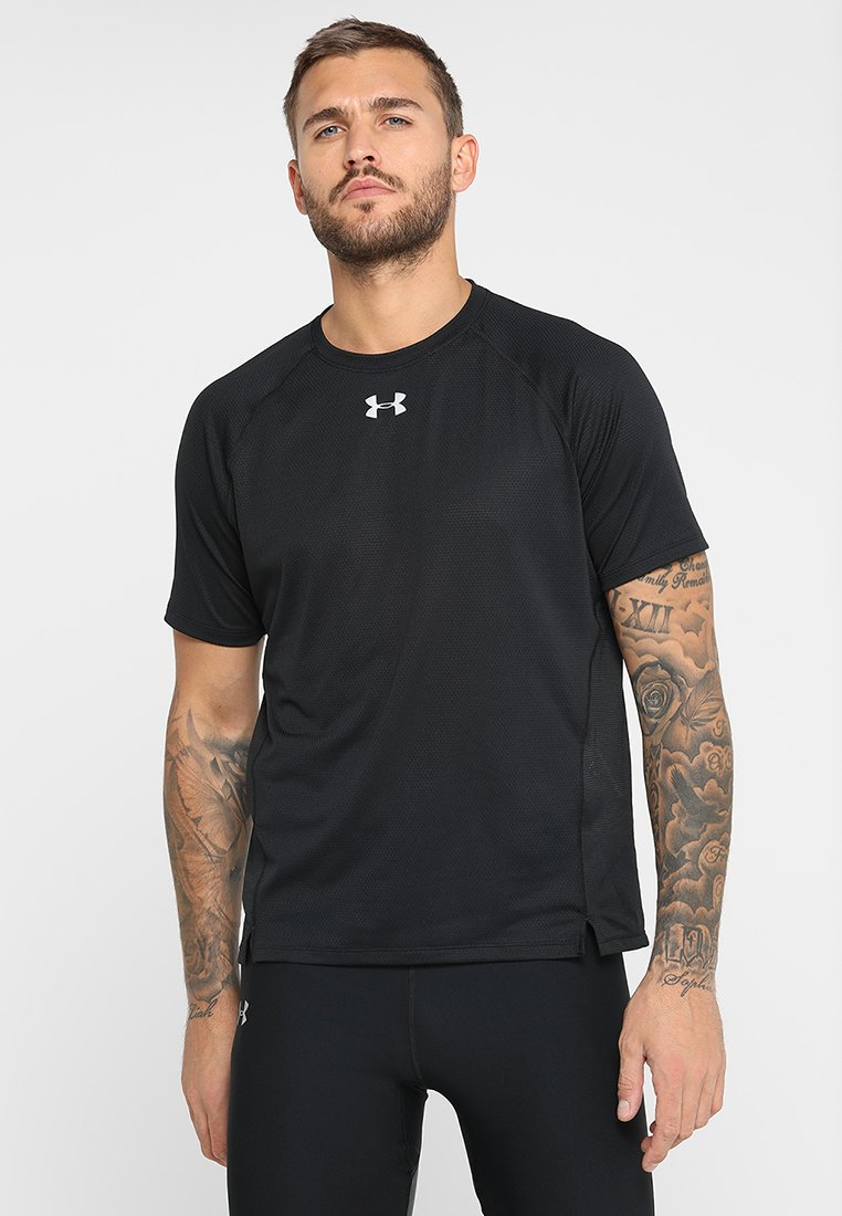 Under Armour - QUALIFIER SHORTSLEEVE - Camiseta de deporte - black/reflective