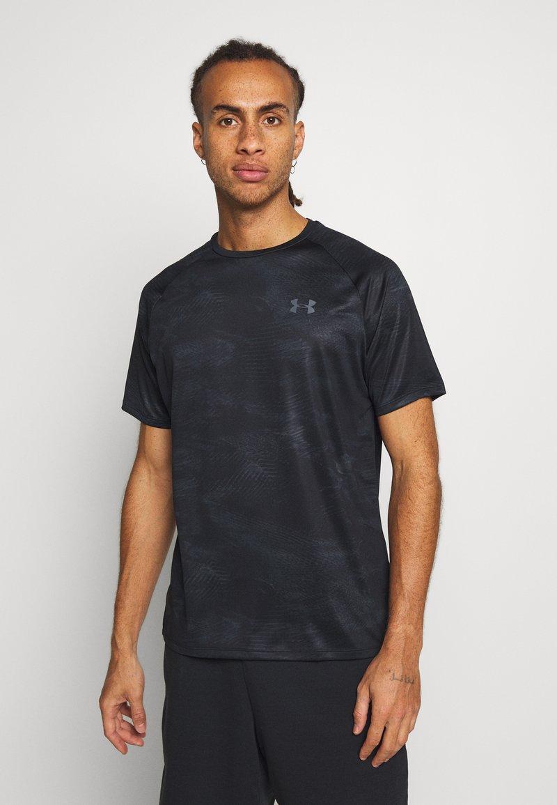 Under Armour - TECH 2.0  - T-shirt print - black/pitch gray