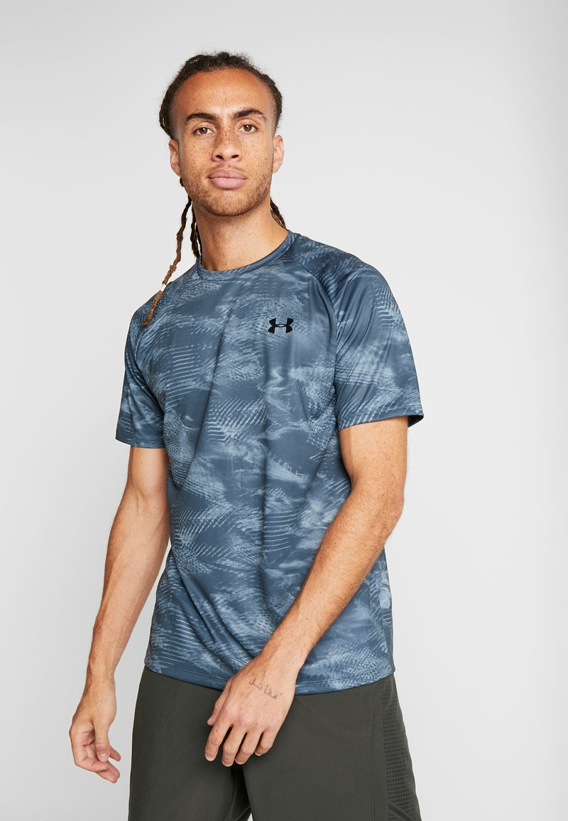 Under Armour - T-shirt con stampa - wire/black