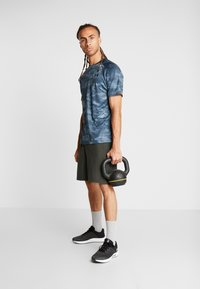Under Armour - T-shirt con stampa - wire/black - 1